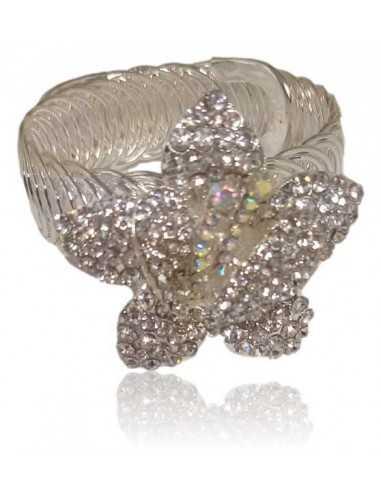 Bracelet manchette soirée extensible motif fleur tendance