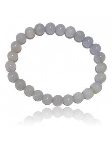 Bracelet calcédoine pierres boules 7 mm