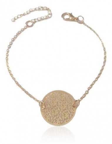 Bracelet fin motif fleurs