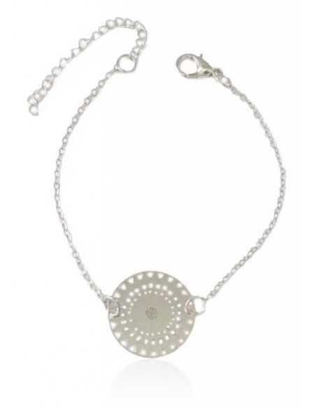 Bracelet fin motif mandala géométrique