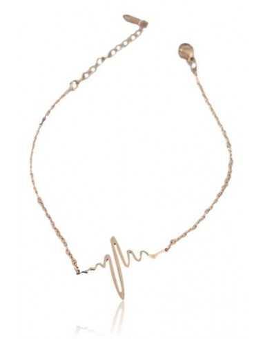 Bracelet acier inoxydable motif ondes