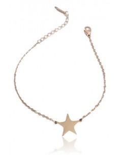 Bracelet acier inoxydable motif étoile
