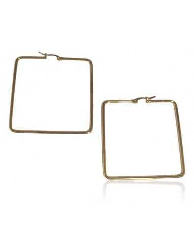Créoles carrées acier inoxydable 5 cm