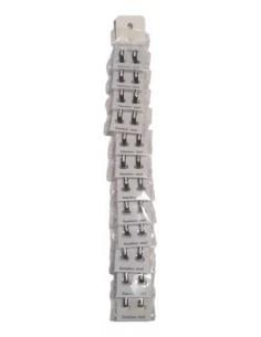 12 paires créoles acier et zirconium homme/ femme
