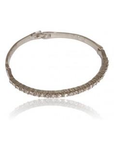 Bracelet jonc serti 1 rangée de strass
