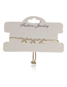 Bracelet fin ajustable motif 3 noeuds
