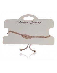 Bracelet fin ajustable motif feuille