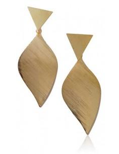 Boucles d'oreilles feuilles pointes graphiques