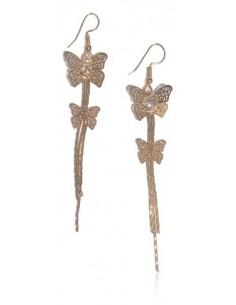 Boucles d'oreilles pendantes dégradé de papillons