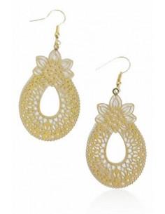 Boucles d'oreilles acier inoxydable motif ananas
