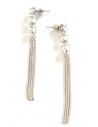Boucles d'oreilles pendantes multi-chaînettes & zirconiums 8 cm