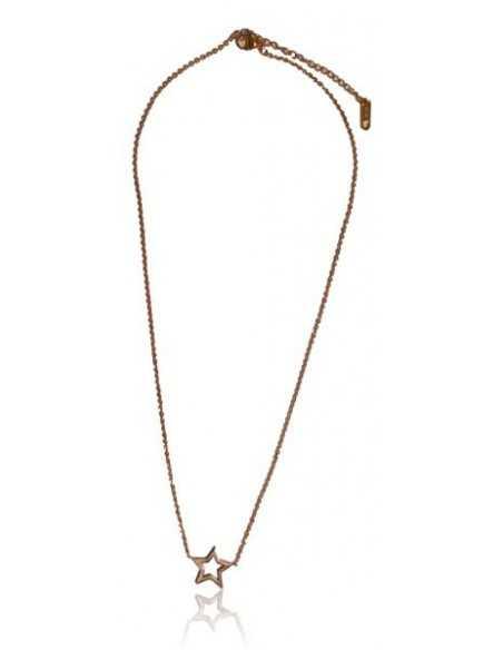 Collier acier inoxydable gold rose pendentif étoile