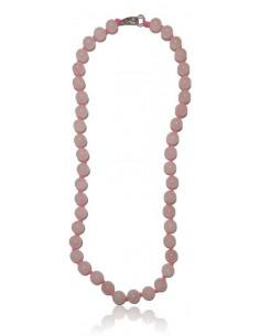 Collier quartz rose pierres boules 8 mm