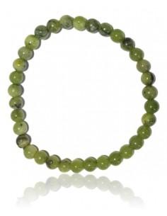 Bracelet jade néphrite pierres boules 6 mm