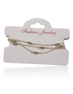Bracelet fantaisie multirangs perles tambour