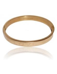 Bracelet jonc acier inscription Love motif soleil