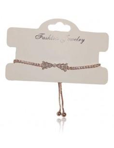 Bracelet fin tout strass motif noeud