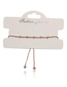 Bracelet fin décoré de perles strass