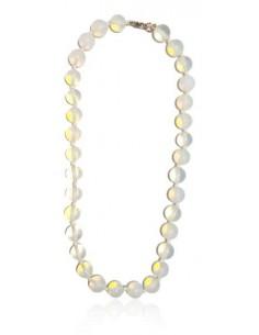 Collier opale pierres boules 10 mm