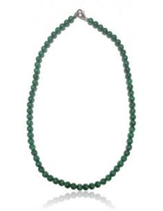 Collier malachite véritable haute qualité pierres boules 6 mm