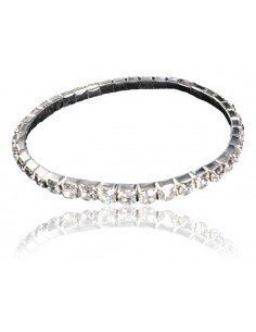 Bracelet 1 rangée de strass blancs