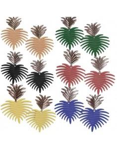 12 paires de boucles d'oreilles ananas graphique fantaisie