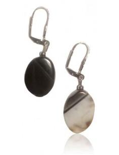 Boucles d'oreilles pierre agate ovales