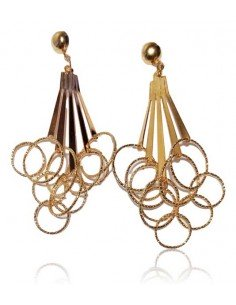 Boucles d'oreilles pampilles fantaisie anneaux