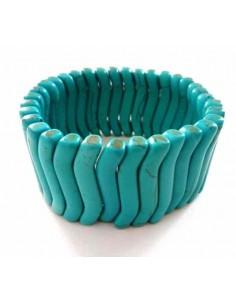 Bracelet turquoise reconstituée pierres en relief