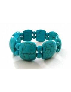Bracelet turquoise reconstituées pierres fantaisie