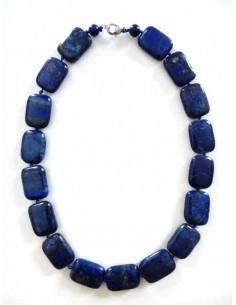 Collier lapis-lazuli perles carrées