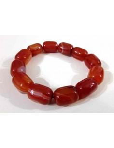 Bracelet cornaline pierres cubiques