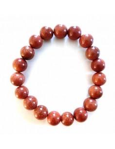Bracelet pierre du soleil perles boules 1 cm