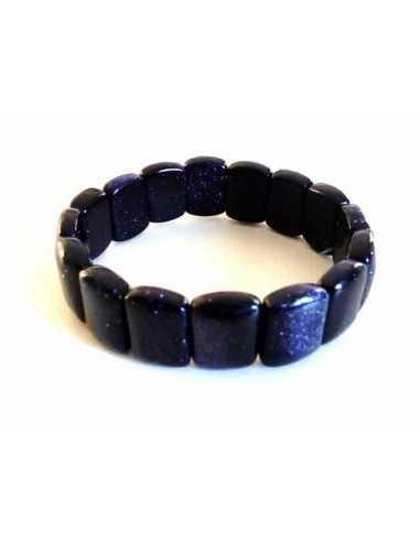 Bracelet pierre du soleil noire rectangle