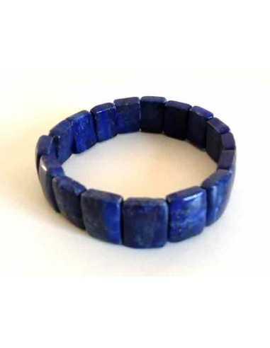 Bracelet lapis-lazuli rectangle