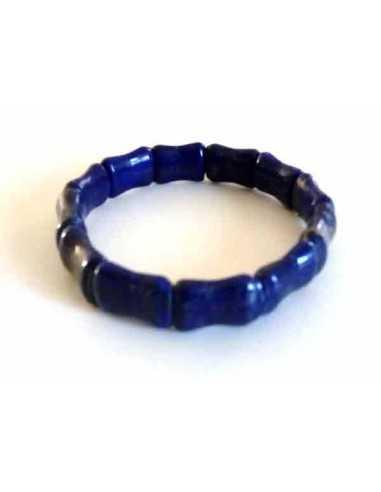Bracelet lapis-lazuli géométrique