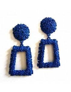 Boucles d'oreilles métalliques géométriques 4 cm