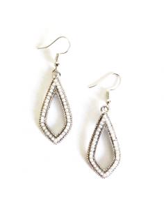 Boucles d'oreilles perles fantaisie pendantes 4 cm