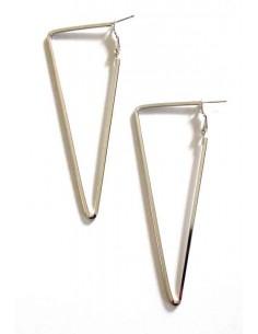 Boucles d'oreilles créoles triangles géométriques