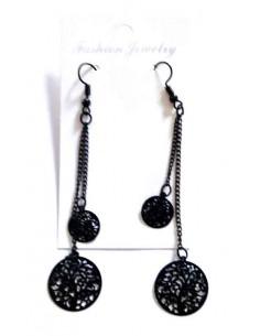 Boucles d'oreilles arbre de vie chaines pendantes