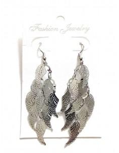 Boucles d'oreilles fantaisie ailes d'ange à pampilles 6 cm