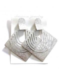Boucles d'oreilles géométriques pailletées
