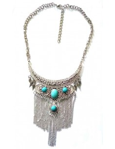 Collier turquoise style bijoux ethniques