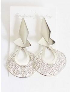 Boucles d'oreilles fantaisie géométriques