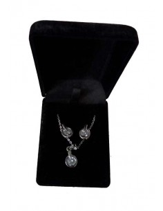 Parure en coffret collier pendentif zirconium et boucles