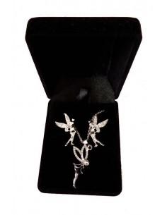 Parure en coffret collier pendentif fée
