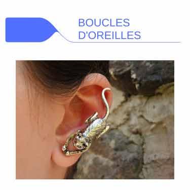 Boucles d'oreilles fantaisie